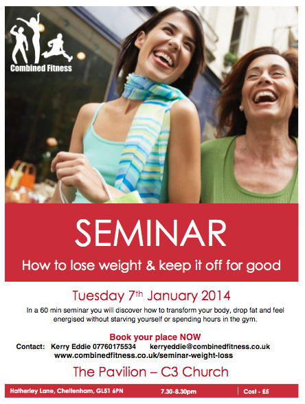 January Detox Weight Loss Seminar Combined Fitness – Seminar Flyer
